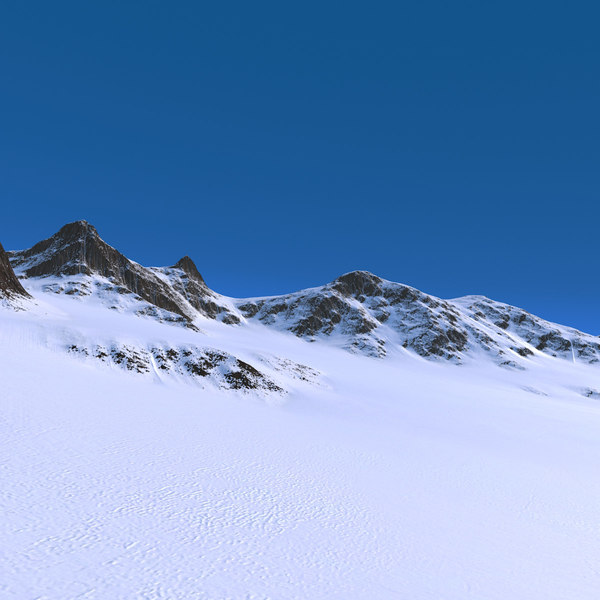 snow mountains landscape range 3D model