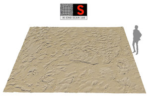 3D model wet beach ground 16k