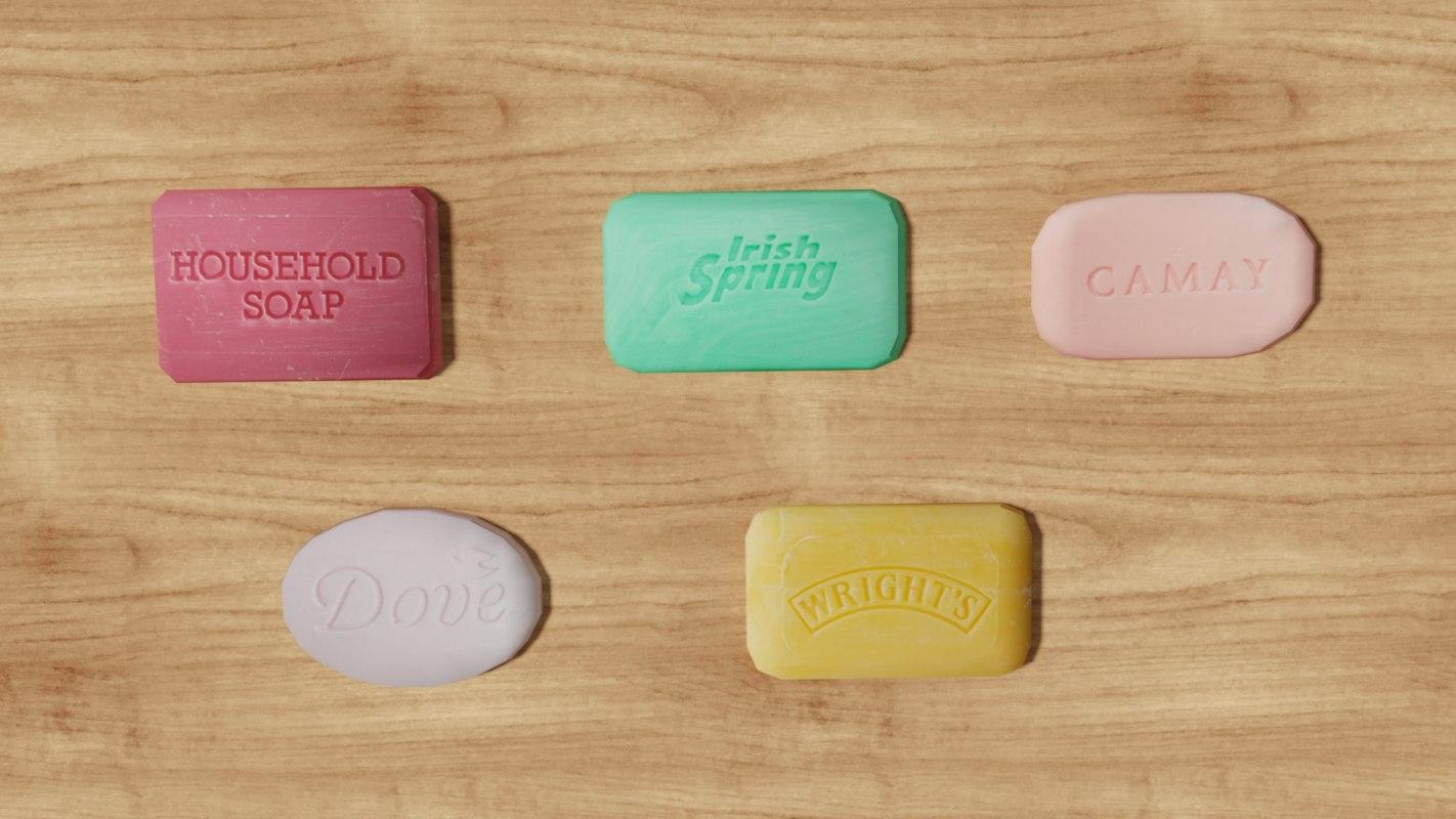 bar soap 3D