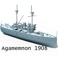 agamemnon 1908 uk 3D model