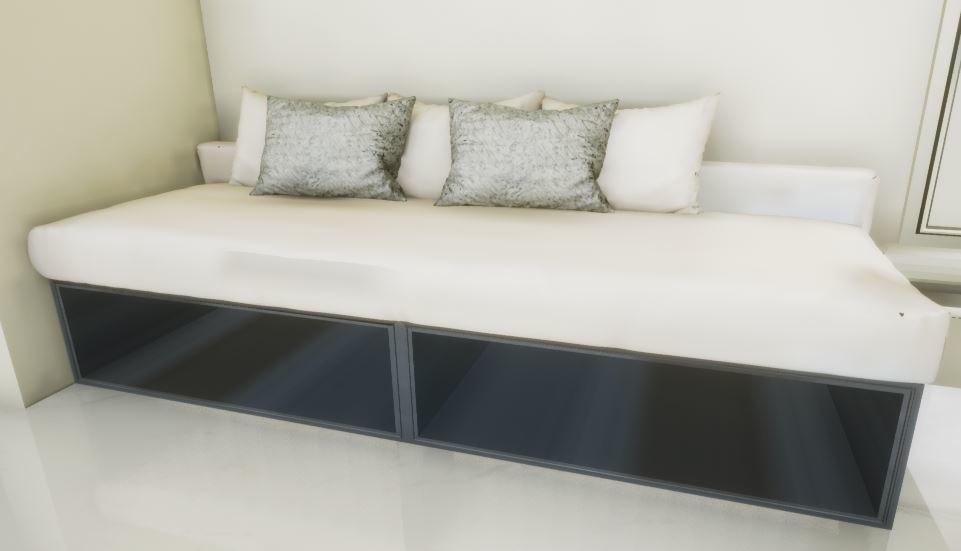 3D sofa sitting area