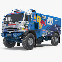 dakar racing truck kamaz model