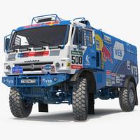 3D dakar racing truck kamaz