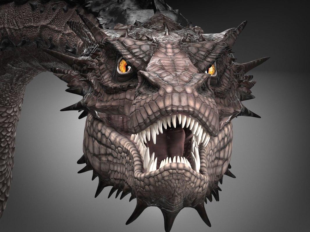 3D smaug hobbit dragon