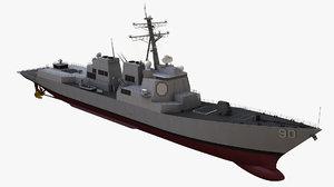 3D burke class destroyer model