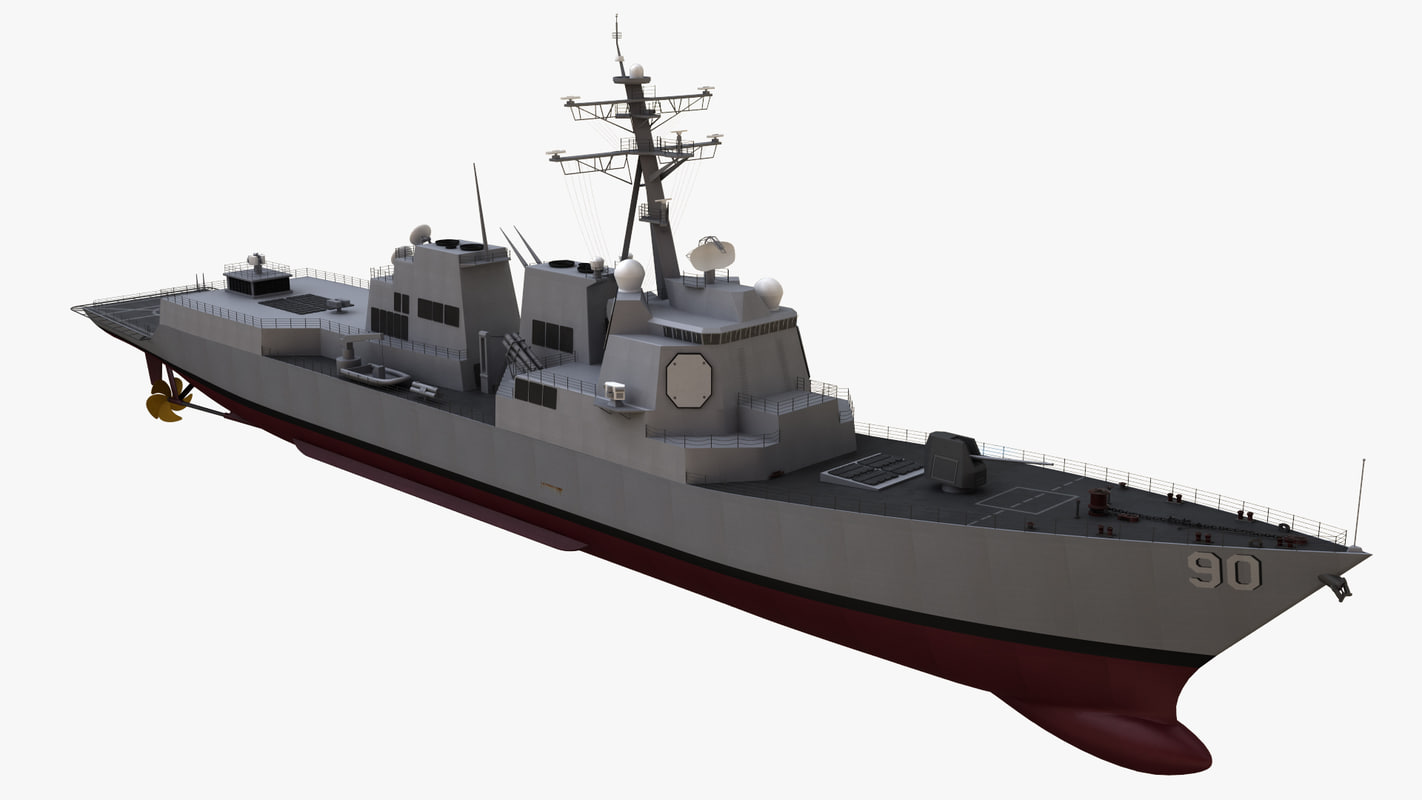 3D burke class destroyer model