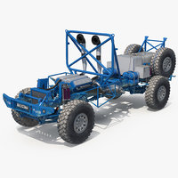 Dakar Racing Truck KAMAZ Frame And Engine 3D Model