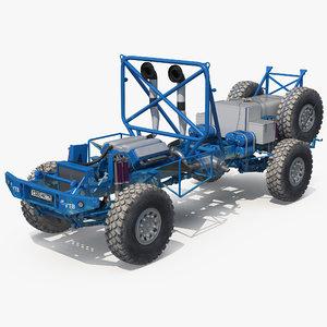 dakar racing truck kamaz 3D model