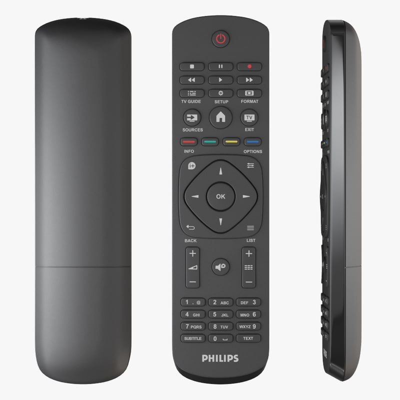 3D philips tv remote control