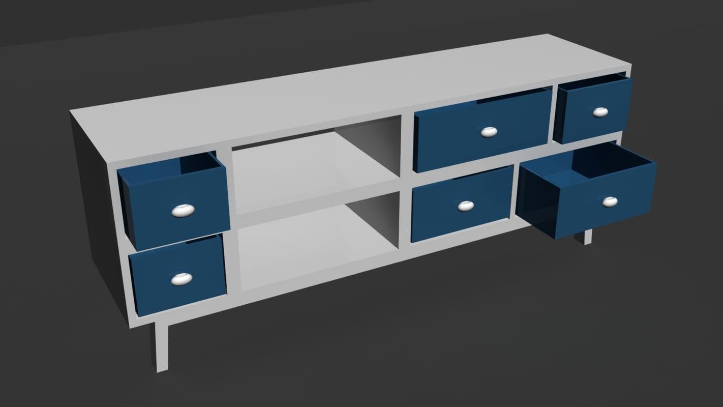 simple modern table 3D model