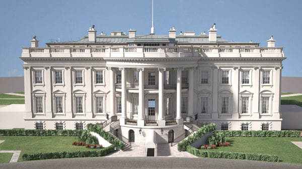 3D usa white house model