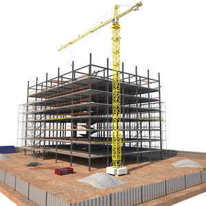 construction building industrial 3D model
