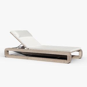 continuous line chaise 3D model