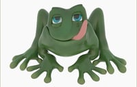 3D jaba frog cartoon anuran model