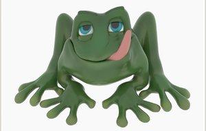 3D jaba frog cartoon anuran model
