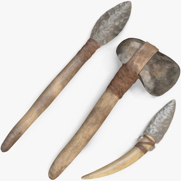 ancient tools 3D model