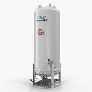 3D lng storage tank vertical model