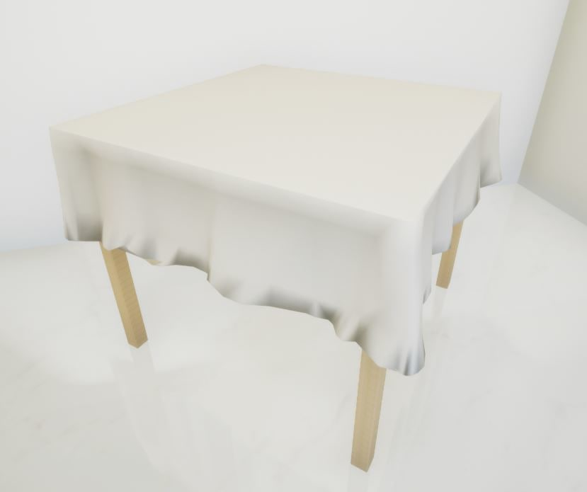 square table tablecloth 3D model