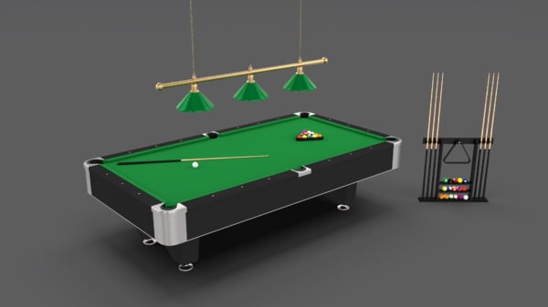 8 ball pool table model