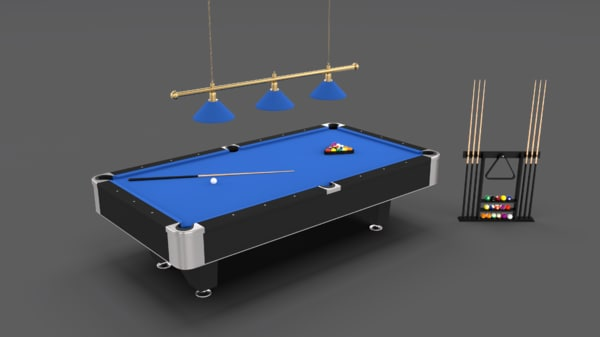 8 ball pool table 3D