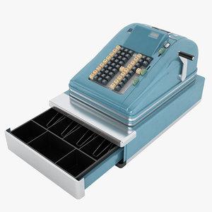 3D vintage cash register