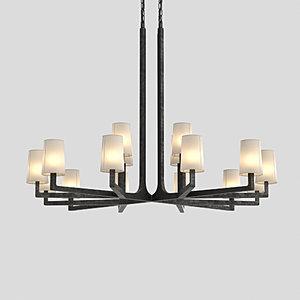 3D wright chandelier