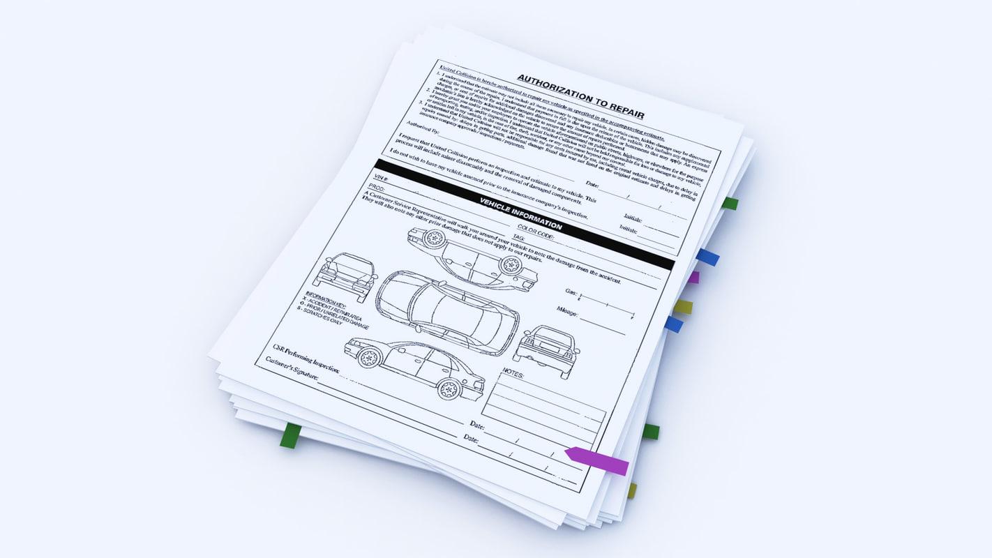 office paperwork 3D model