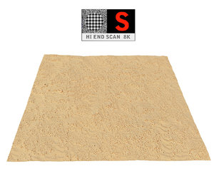 3D dune beach ground 16k model