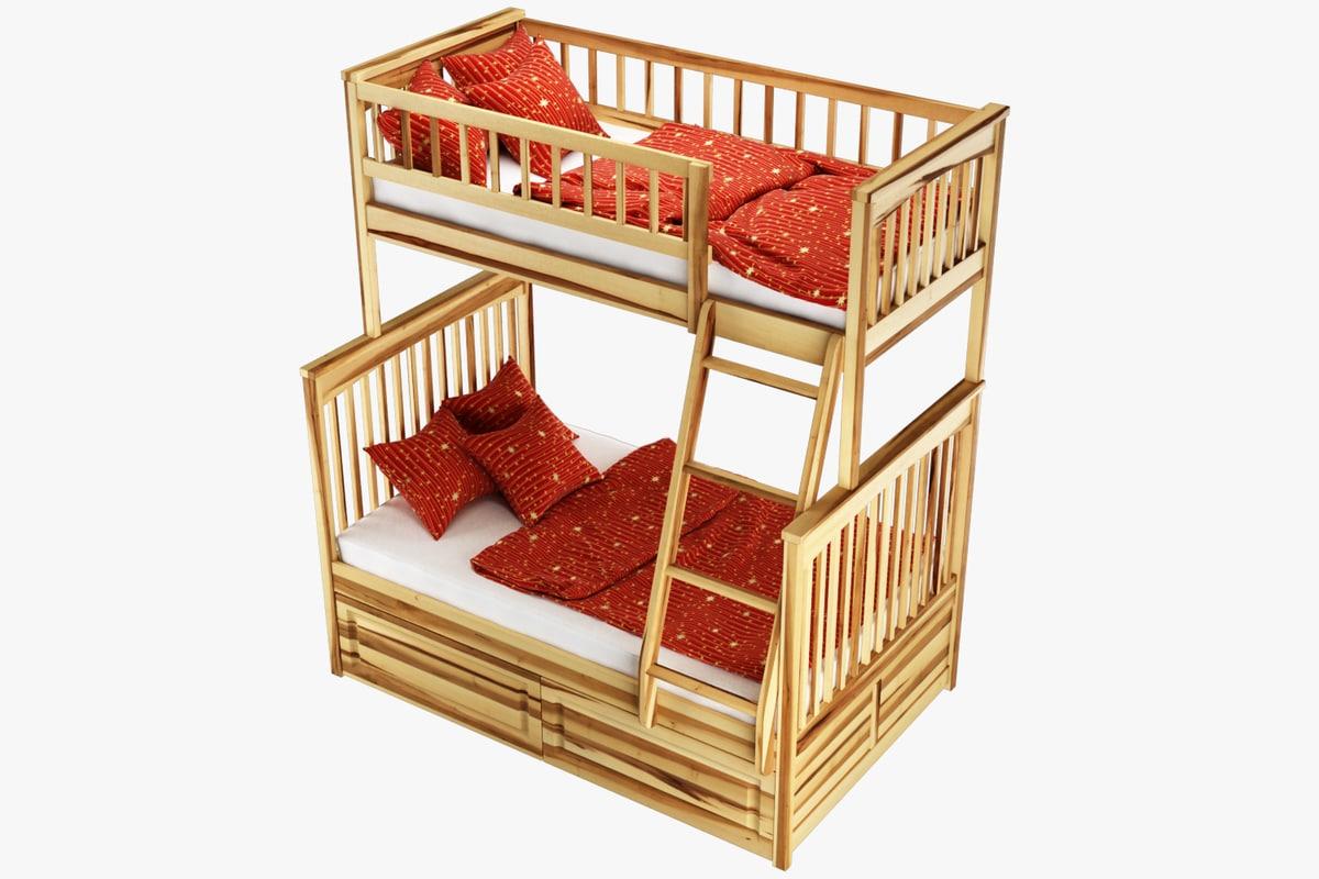 bunk bed vacuna 3D model
