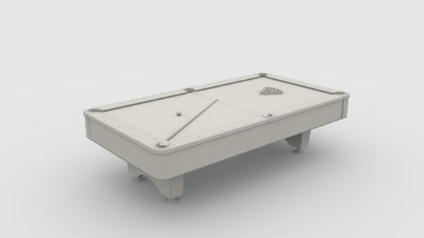 3D 8 ball pool table model