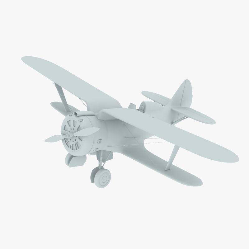 3D polikarpov chaika model