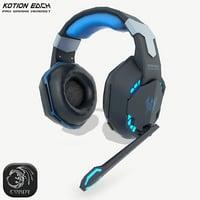 kotion gaming headphones 3D model