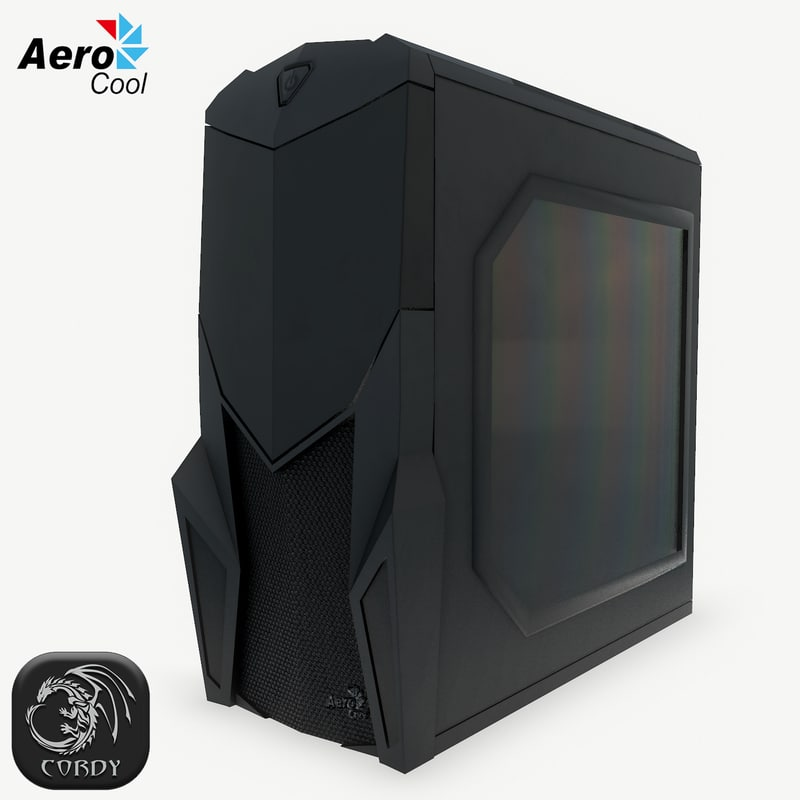 3D pc aerocool cruisestar tower model