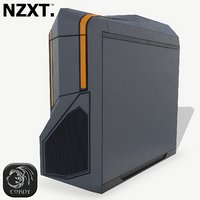 futuristic pc corpus nzxt 3D model