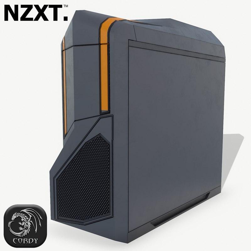 futuristic pc corpus nzxt 3D model