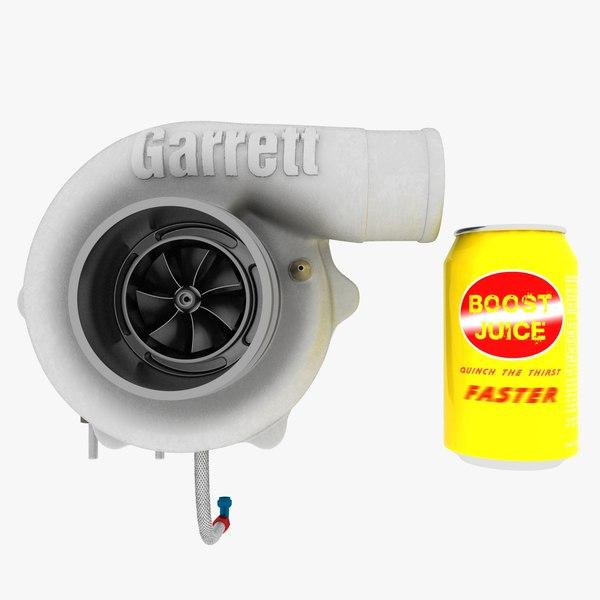 3D small turbocharger compressor