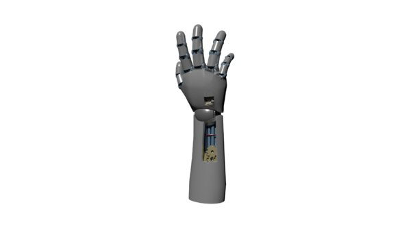 mechanical robotic hand 3D model