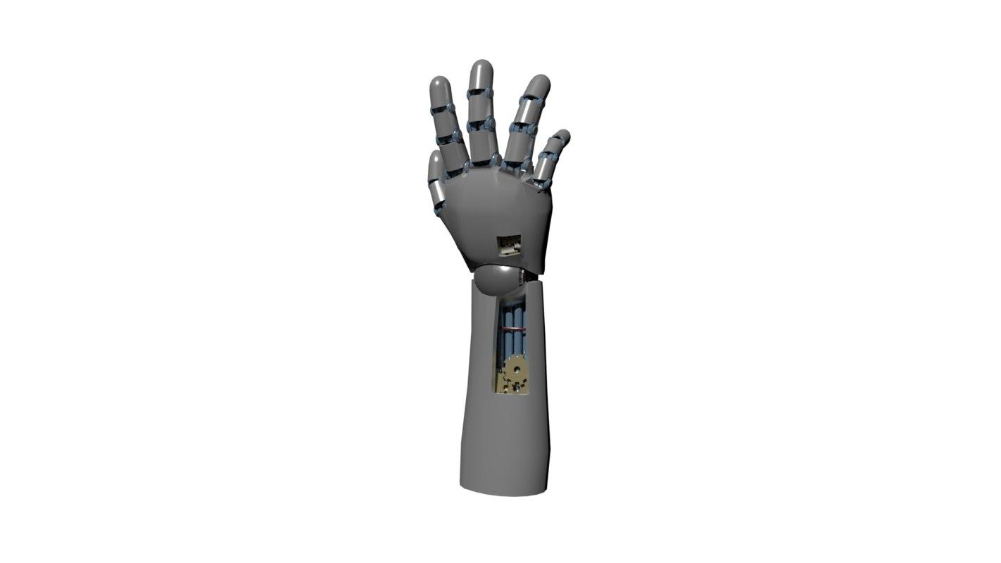 mechanical robotic hand 3D model