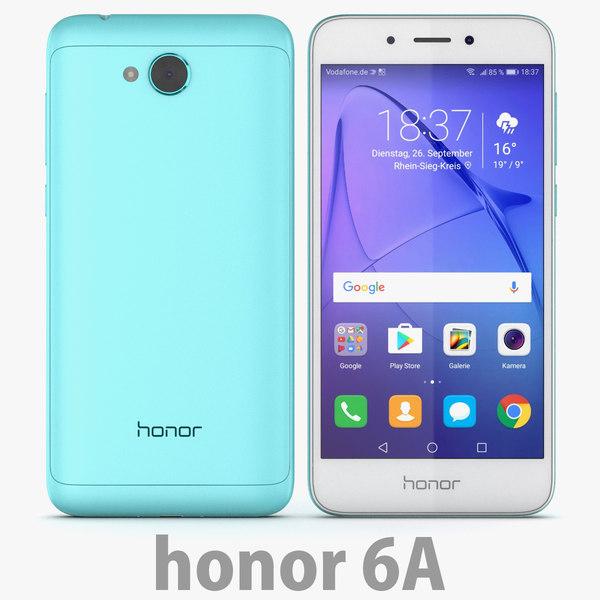 3D huawei honor 6a model