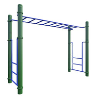 3D children playground monkey bars