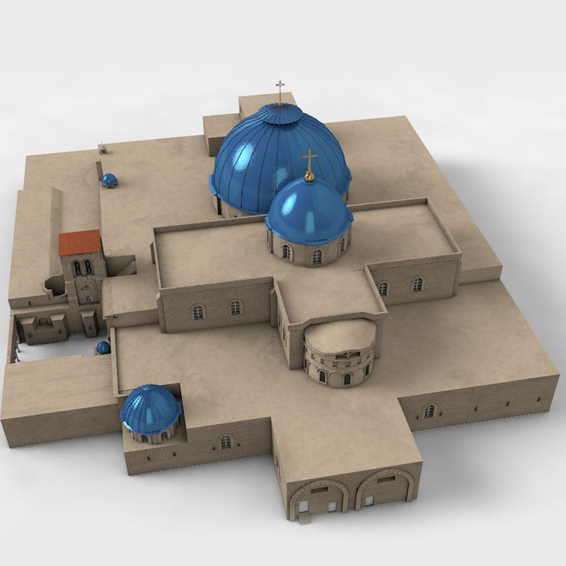 holy grave church 3D model