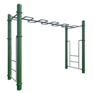 3D children playground monkey bars