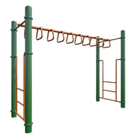 3D children playground monkey bars model