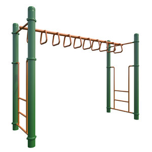 3D children playground monkey bars model