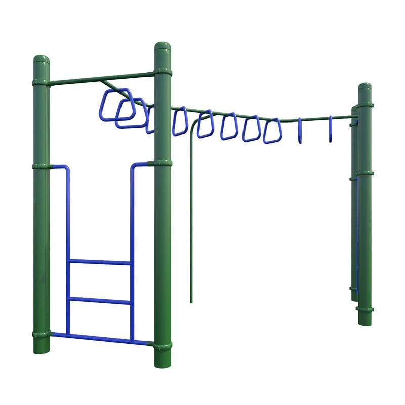 children playground monkey bars 3D model