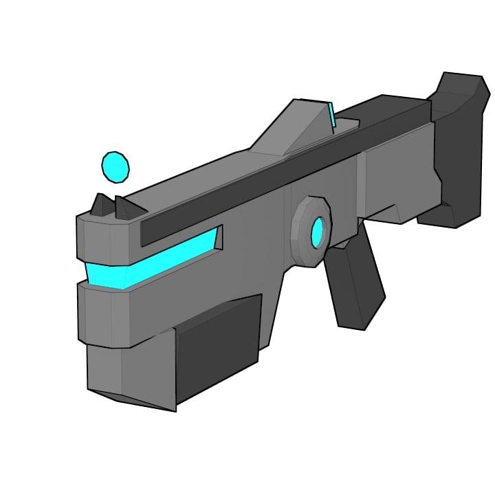 3D plasma rifle prototyping model