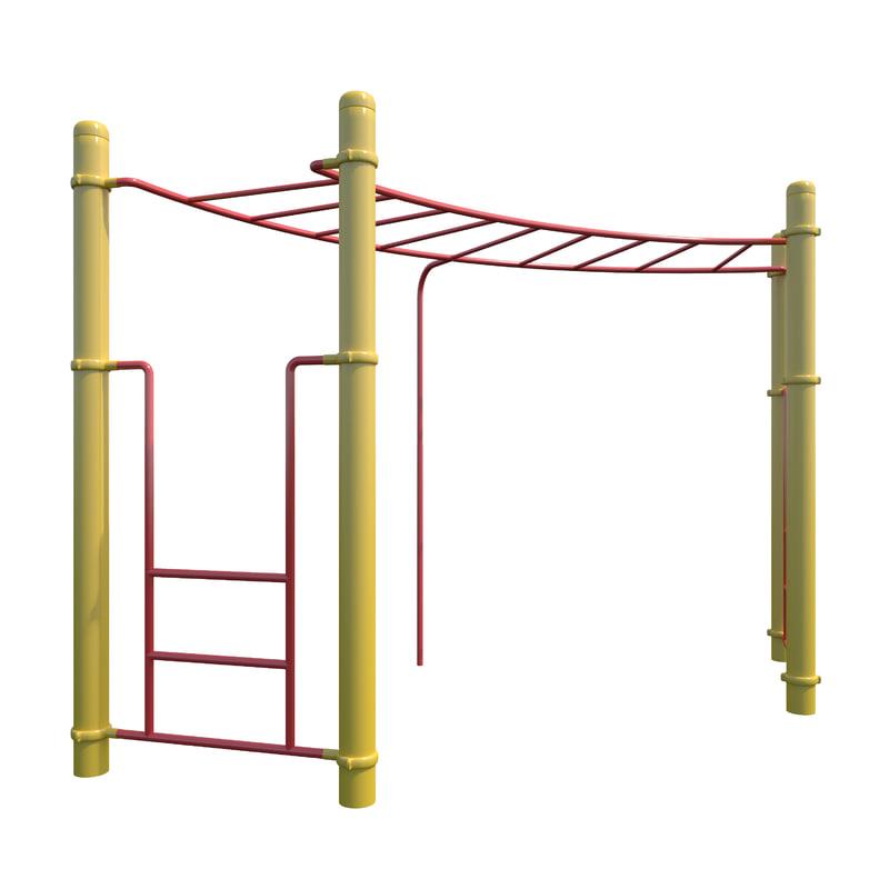 children playground monkey bars model