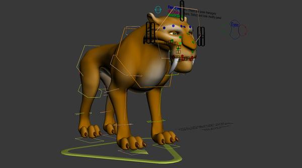 cartoon tiger 3D