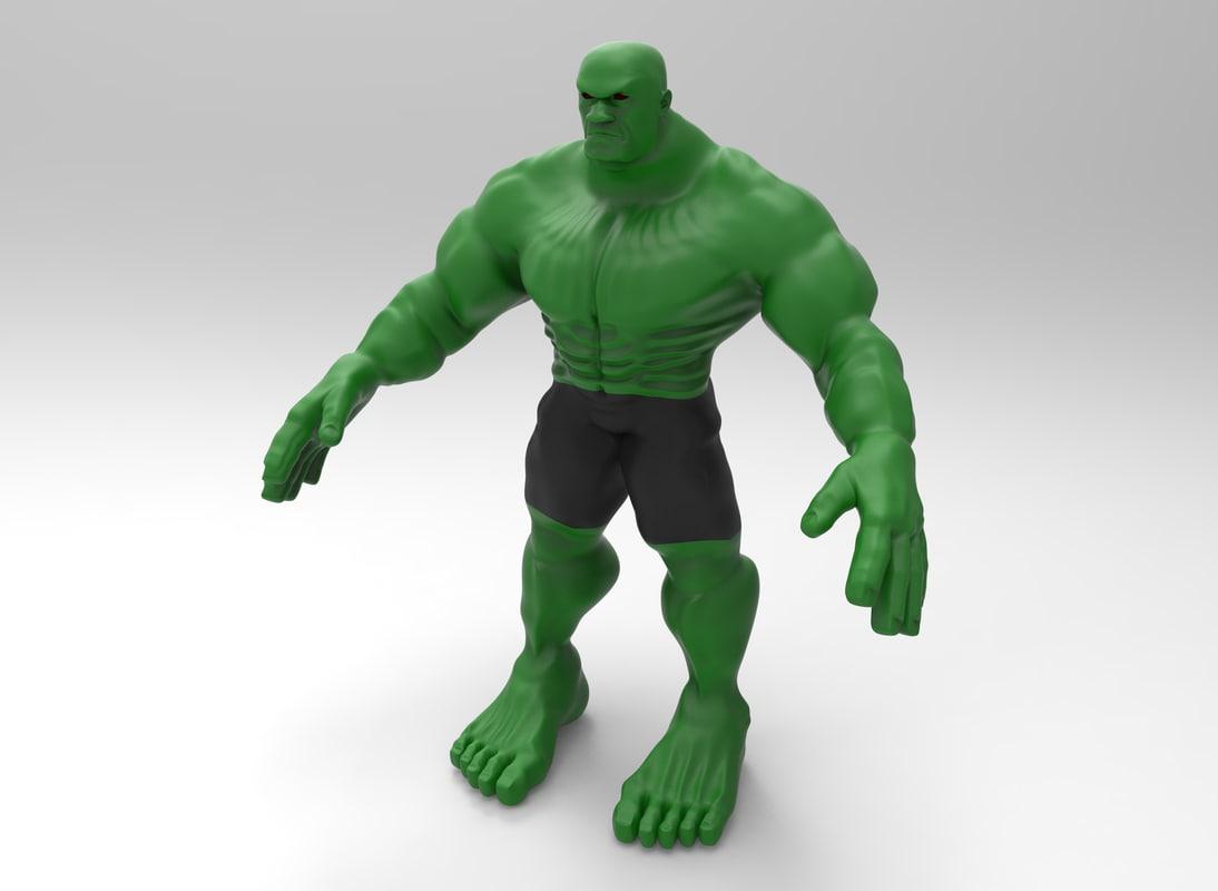 green man 3D model