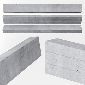 3D concrete beam model